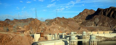 Panorama View of a Hoover Dam Royalty Free Stock Images