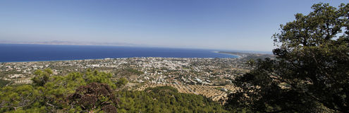 Panorama view on ialysos Royalty Free Stock Photos