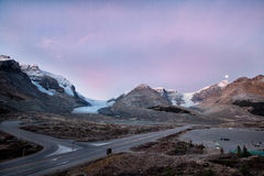Panorama view of  Icefield and glaciers Stock Photo