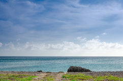 Panorama view of the image taken from Malmok Beach Stock Images
