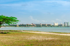 Panorama view of the image taken from Malmok Beach Royalty Free Stock Photos