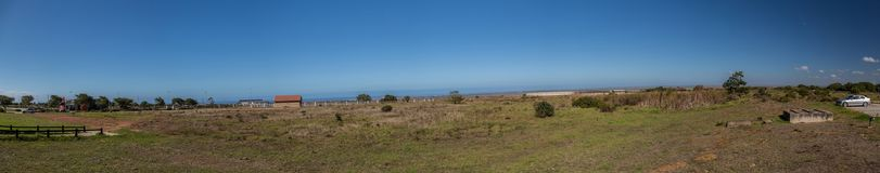 Panorama view of Jeffreys Bay at the Eastern Cape of South Africa Royalty Free Stock Photo