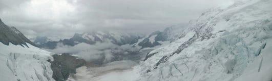 Panorama view of Jungfrau Stock Image