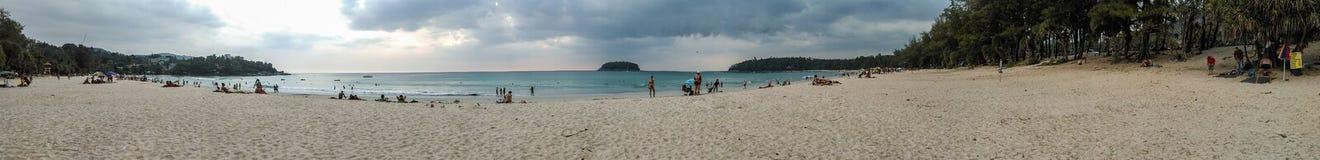 Panorama view of kata beach Stock Photography