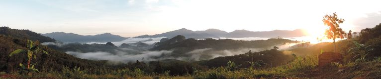 Panorama view in NakhonSri Thammarat, Thailand. Royalty Free Stock Photo