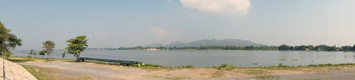Panorama view of Kwai river Stock Image