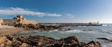 Panorama view of la Chaume jetty Stock Photography