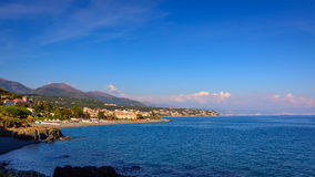 Panorama view of the Ligurian Stock Images