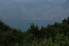 Panorama View on Limone. Lake Garda, Italy Royalty Free Stock Photography