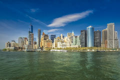 Panorama View of lower Manhattan cityscape Royalty Free Stock Photo