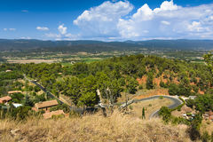 Panorama view of Luberon natural park from Roussillon village, F Stock Photos