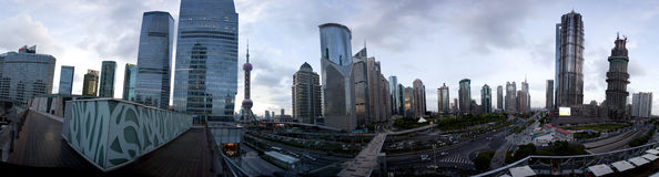Panorama view of Lujiazui Royalty Free Stock Images