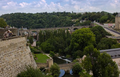 A panorama view of Luxembourg city. A panorama view of the old town in Luxembourg city Stock Photography