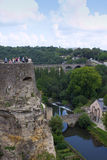 A panorama view of Luxembourg city. A panorama view of the old town in Luxembourg city Stock Images