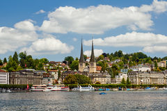 Panorama view of Luzern, Switzerland Royalty Free Stock Photography