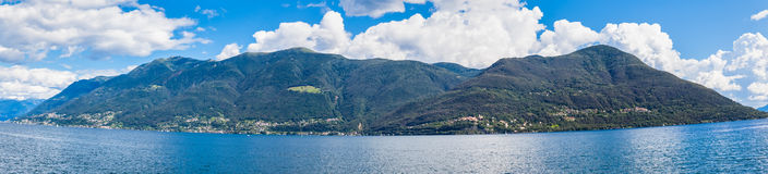 Panorama view of Maggiore lake Royalty Free Stock Photography