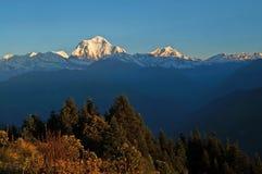 Panorama view of the majestic of himalayan mountain, Nepal Stock Photo