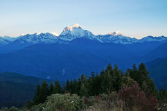 Panorama view of the majestic of himalayan mountain range Stock Photography