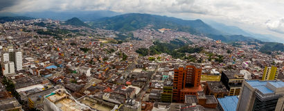 Panorama view of Manizales city in Colombia Stock Image