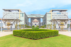 Panorama view of The Masjid Tuanku Mizan Zainal Abidin in Putrajaya, Malaysia. Royalty Free Stock Photography