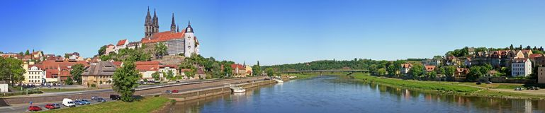 Panorama view on Meissen Saxony Royalty Free Stock Image