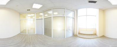 360 panorama view in modern empty apartment interior, degrees se. Amless panorama Stock Photo