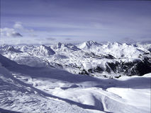 Panorama View of the French and Swiss Alpes Stock Images