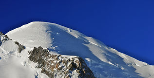 Panorama view of Mont Blanc Summit royalty free stock photo