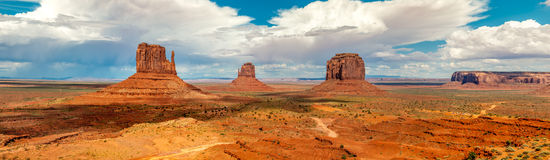 Panorama view at the Monument Valley Royalty Free Stock Photo