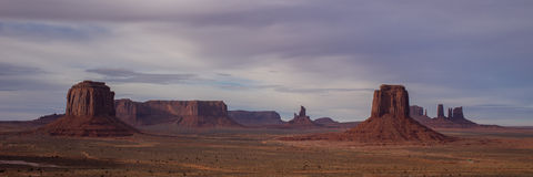Panorama view of Monument Valley Stock Photo