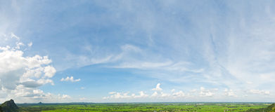 Panorama view on mountain Royalty Free Stock Photography