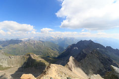 Panorama view with mountain Grossglockner and glaciers, Hohe Tauern Alps, Austria Royalty Free Stock Photos