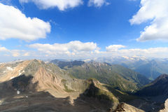 Panorama view with mountain Grossglockner and glaciers, Hohe Tauern Alps, Austria Stock Photo