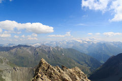 Panorama view with mountain Grossglockner, Hohe Tauern Alps, Austria Royalty Free Stock Images