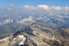 Panorama view with mountain Wildenkogel, Hohe Tauern Alps, Austria Royalty Free Stock Photos