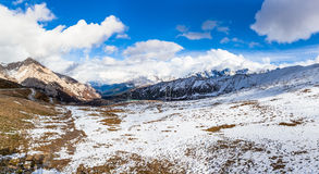 Panorama view of the mountains on the Highland of Sichuan Provin Stock Image