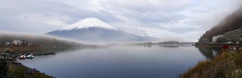 Panorama view of Mt.Fuji. From Kawaguchiko lake , Japan Stock Images