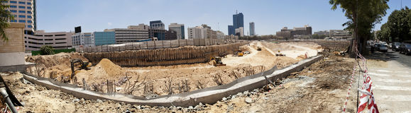 Large Tower Complex Construction Site Panorama Royalty Free Stock Photo