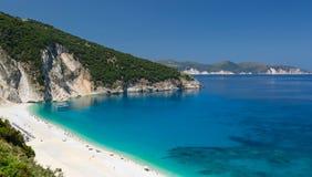 Panorama view of Myrtos beach on the island Kefalonia. Stock Photography