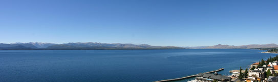 Panorama view of Nahuel Huapi Lake, close to Bariloche, Argentin Royalty Free Stock Photos