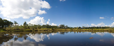 Panorama view of national park. Panorama view of national park in Thailand. Viewpoint of reservoir in national park Stock Images