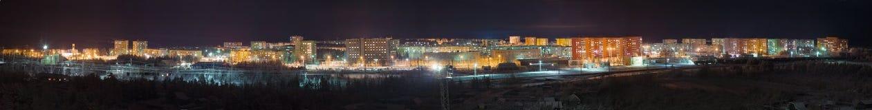 Panorama - view night city Stock Photos