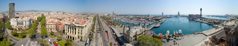 Panorama View Of Barcelona Royalty Free Stock Photography