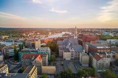 Panorama View Of The City Of Szczecin, Northwest Poland Stock Image