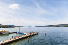 Panorama View Of Zurich Lake Stock Photos