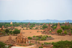 Panorama view of Old Bagan Stock Image