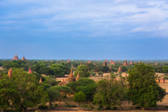 Panorama view of Old Bagan Royalty Free Stock Images