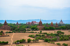 Panorama view of Old Bagan Royalty Free Stock Photo