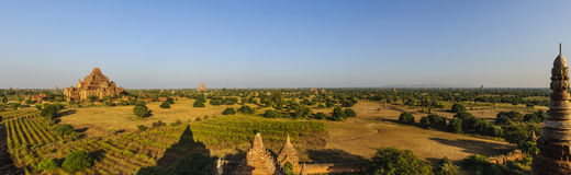 Panorama view of Old Bagan Stock Image