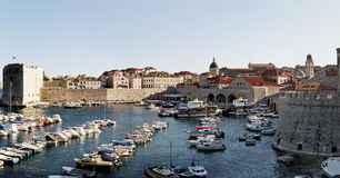 Panorama view of Old Dubrovnik port. Croatia Europe Royalty Free Stock Images